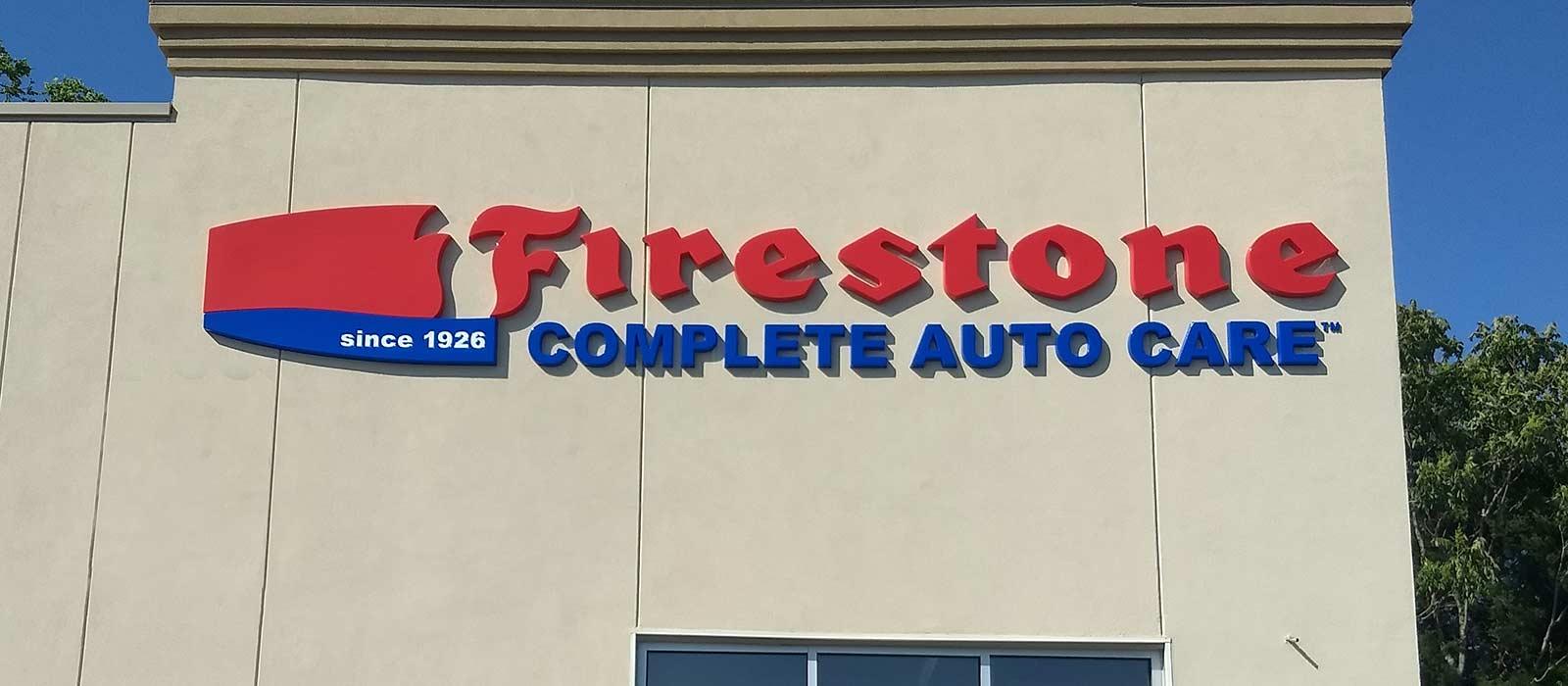 Firestone Sign Installation Done Right
