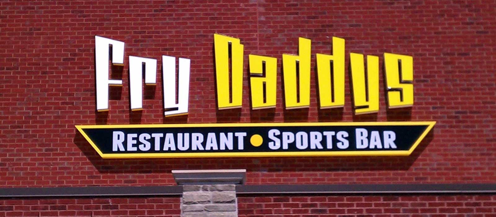 Fry Daddys - Channel Lettering Back Lit Sign