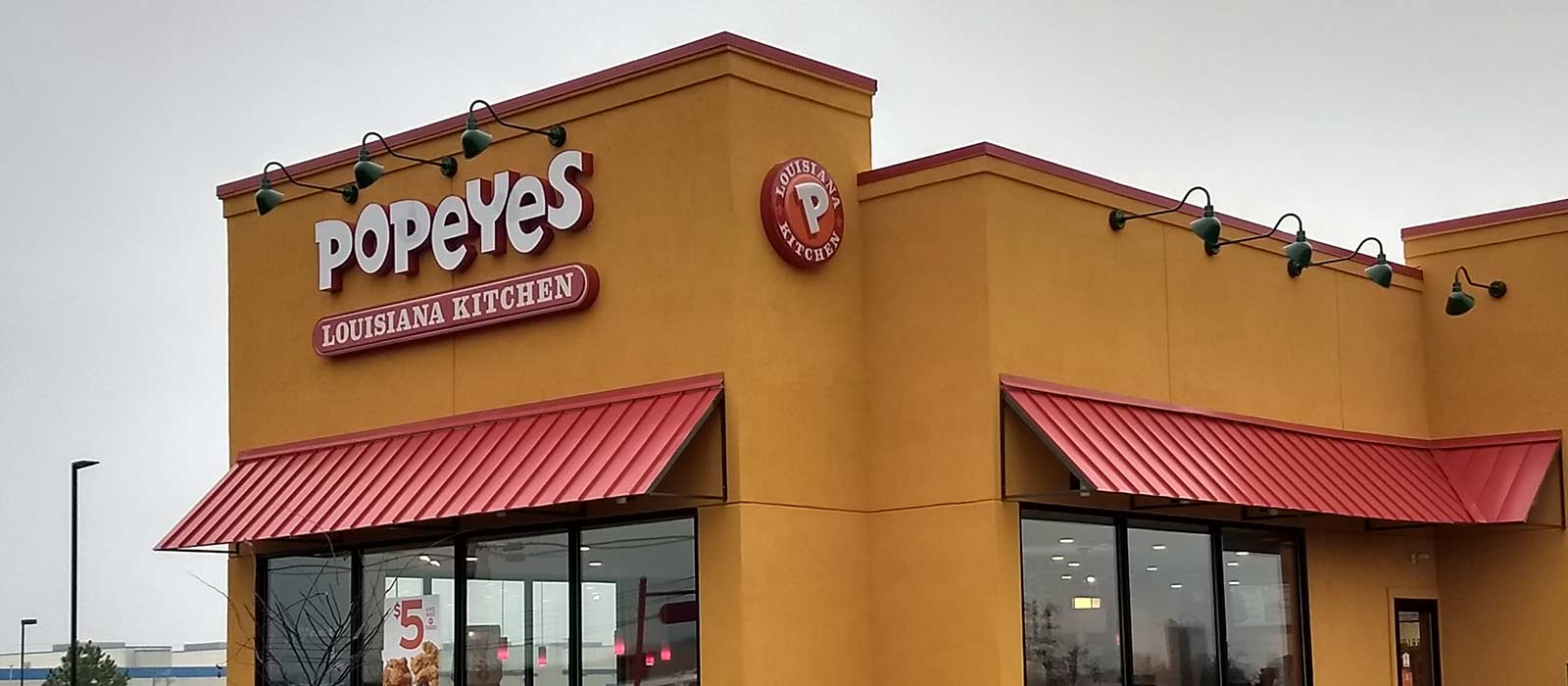 Popeyes Restaurant Channel Letters And Pole Sign Installation