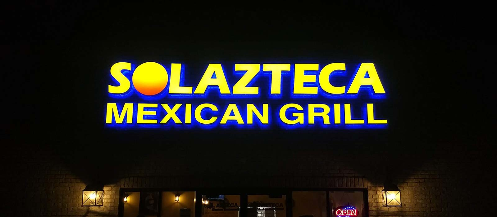 Solazteca Channel Letters And Reverse Lit Signage